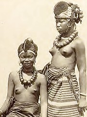 Sexual vintage pictures of several exposed ethnic ladies