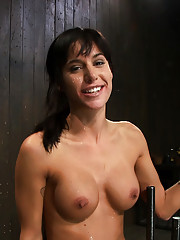 Tiny Milf with big tits deals with the last scene of a live shoot we shot on Halloween.  Made to squirt over and over, fucked, caned and facialed.