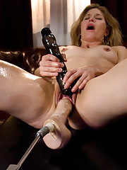 BIG dong loving MILF with the BUFF, sexy body of an 18 year old, machine rammed by toys the size of her arm!