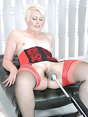 Milf sally and the fucking machine