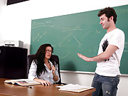Professor Rome is teaching chemistry but James is having trouble following because of her exotic accent. Since words are failing her, Professor Rome decides to demonstrate for James the chemistry a mature and attractive teacher can have for her younger st