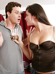 Bobbi Starr is sick and tired of her neighbor throwing his cigarette butts into her yard. She�s been on edge because she hasn�t gotten laid in a while. Since he likes butts so much Bobbi decides to give him her�s!!