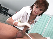 Masturbatrix handjob mature nurse