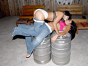 Hot tight ass little teens fuck eachother on the beer kegs in these hot pics and big movies