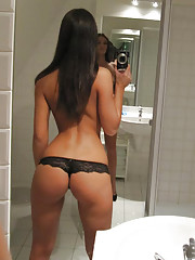 Check out these hot fucking black booty short babes in the bathroom get strip and show their teen bodies