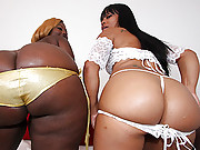 Ghetto sluts with phat asses bouncing on a big black cock!