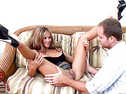 HotWifeRio pulls up her skirt and gets fucked hard then receives a facial