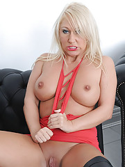 British thigh booted blonde milf
