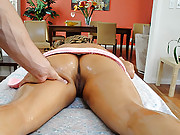 Slutty girl wants more from the dirty masseuse
