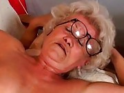 Speccy granny shafted by younger guy