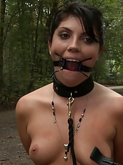 European hottie gets jizzed on then paraded in public with cum on her face and tits