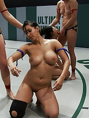 Isis love and Tia Ling get fucked after losing a Tag Team wrestling match!