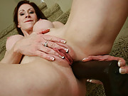 Hot slut ramming thick dildo