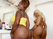Check out 2 amazing hot fucking stacked big ass ebony babes get drilled againt the couch in this 4 movie set amazing black booty bouncing 3some vids