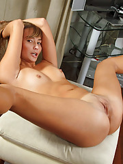 Check out our hot babe Miesha as she spreads legs for a taunting peek of her precious sweet pussy