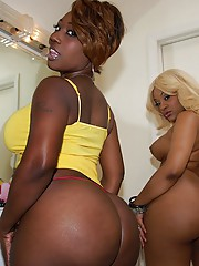 2 amazing hot black ass babes get their asses creamed after fucking a mega cock in this hot 3some amateur pic set