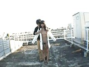 Junko Hayama is feeling naughty and decides to get naked outdoors