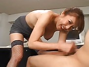 Japanese AV Model huge tits are shown and is licked hard