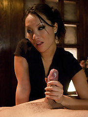 Busted Asian sex masseuse bound and fucked Asa Akira.