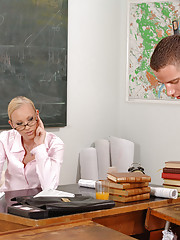 Naughty Teacher Gitta Blond Takes It Up The Ass By Janitor