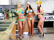 3 hot horny ass fucking bikini lesbians suck and fuck each other  4 hot anal pussy fucking licking vids