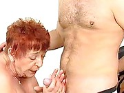 Ginger granny gives good head