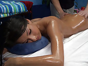 hot 18 year old hottie gets fucked hard from behind by her massage therapist
