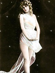 Nearly naked vintage horny chicks in twenties