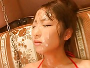 Hina Kurumi close to orgasm as they play with her wet pussy