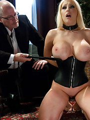 Huge tits, submissive housewife, dominated, bound and ass fucked!