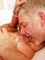 Young slut dangling old geezer balls