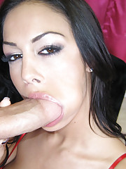 Slutty hoe gets a big cock down her throat