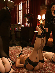 The house slaves are meet with a very unhappy Governess and Pope. They are in for a grueling afternoon of hard learned lessons.
