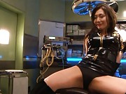 Emi Harukaze plays with her tight pussy and turns 2 guys on