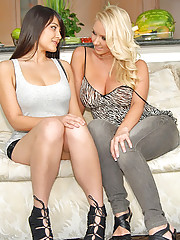 Amazing big tits hot molly and her lesbian girlfriend come home after shopping for some hot amateur lesbian sex