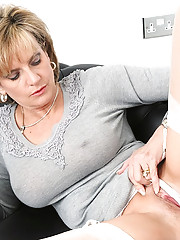Mature trophy wife in white nylons