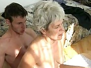Saggy granny fucking on top