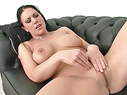 Naked curvy brit milf masturbating