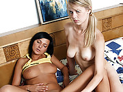 Two sexy lesbian girls pleasuring each other