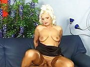 Sexy granny fucked from behind