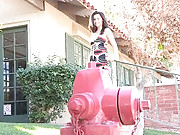 Danica gets off by humping fire hydrant