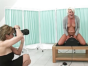 Mature sally riding sybian machine