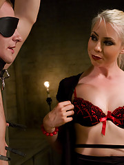 Mistress Lorelei Lee beats slave boy
