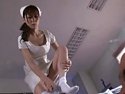 Kaede Fuyutsuki Asian nurse is taking off her panties for patient