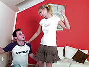 Panty sniffing guy loves screwing his girl