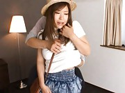 Nao Kamiki Hot babe in sjiort and mini skirt gets tits felt up