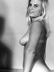 Pretty nude vintage models posing in sixties