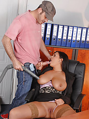 Huge Tits in Office