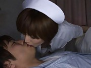 Yuria Satomi Hot nurse kissing patient while he is asleep