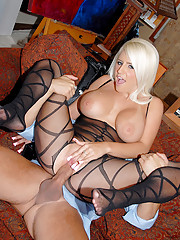 Smoking hot fish net big tits blonde drilled and cumfaced all over her tits hot screaming big tits boss fuck episode